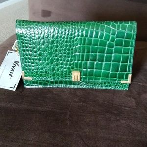 Emerald green handbag